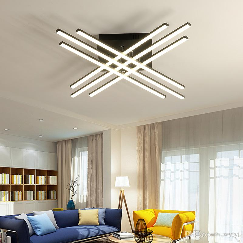 2019 LED Modern Chandelier Home Bedroom Living Room Lamp Decoration Light  Fixture Remote Control Dimmable Surface Mount Creative From Wyiyi, ...