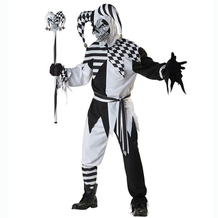 Deluxe Killer Clown Adults Halloween Fancy Dress Mens Circus Horror Costume  New
