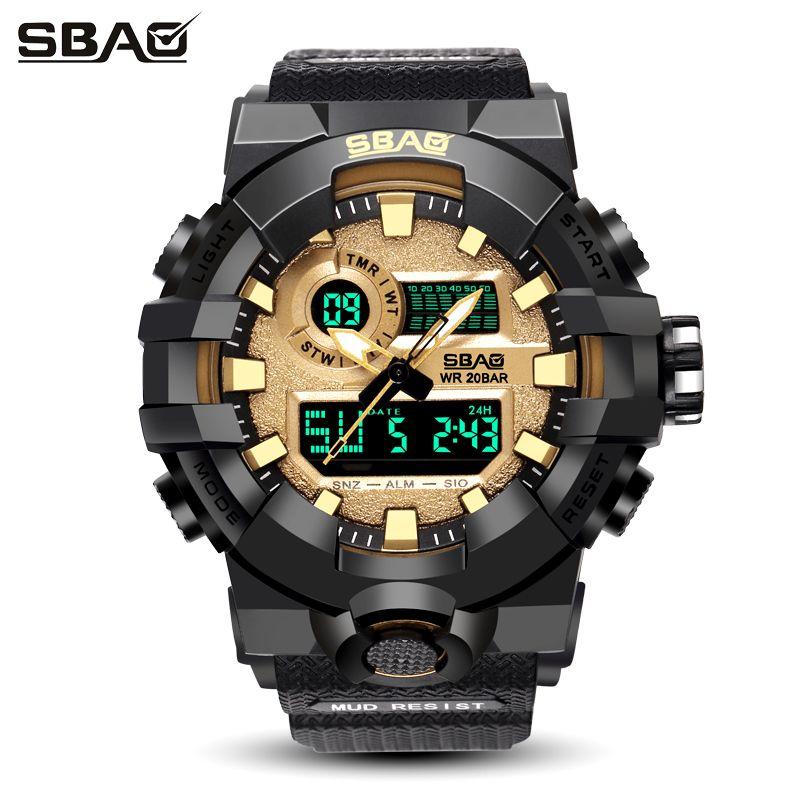 81a183dd5a86 Compre Los Mejores Relojes De Marca Para Hombre Hombre SBAO Reloj De  Pulsera Deportivo Para Hombres Reloj LED Para Hombres Relojes Deportivos A  Prueba De ...