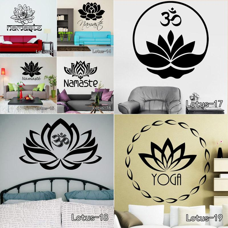 stickers home decor 3D OM Sign Mandala Buddha Lotus Stickers Home Decor Computer Flower Sticker Vinyl Adhesive Decals Wall Decoration