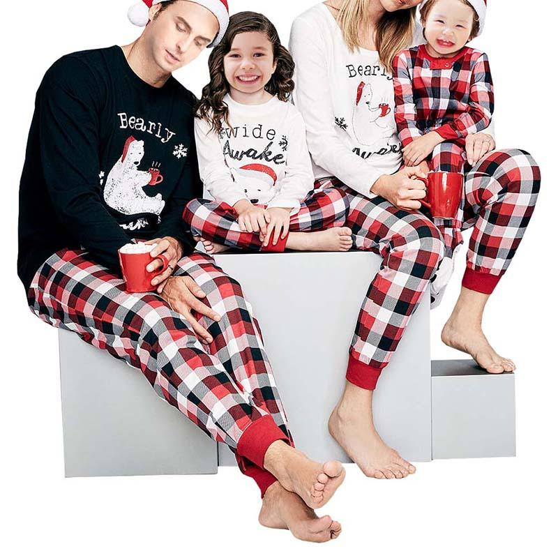 2019 2018 Family Women Men Pajamas Matching Outfits Christmas Family  Pajamas Striped Set Mother Sets Clothing Parent Child From Huojuhua 9d2de3806