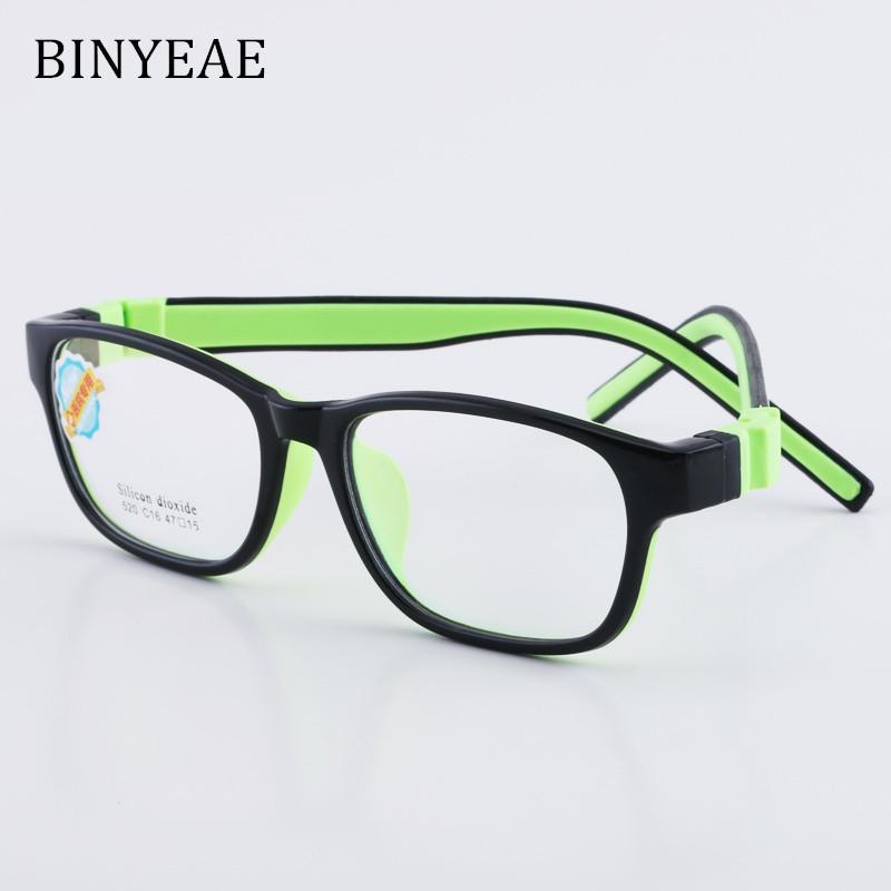 45ae5bd534 Compre BINYEAE Marco De Gafas Para Niños Y Niñas Marco De Gafas Para Niños  Gafas De Calidad Flexible Para Protección Y Corrección De La Visión A  $25.67 Del ...