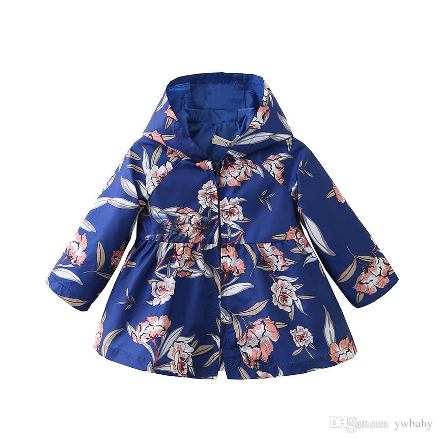 Acquista Giacche Fashion Con Kids Floral Girl Anni Outwear 8 3 CTF7Ca