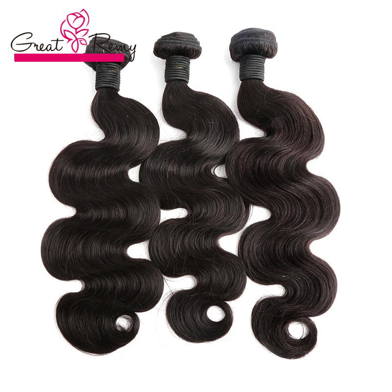 Greatremy® 3 Pçs / lote Doador Brasileiro Cabelo Virgem Weave Bundles Natural Corpo Natural Onda de Cabelo Curly Humano Extensões 300G /