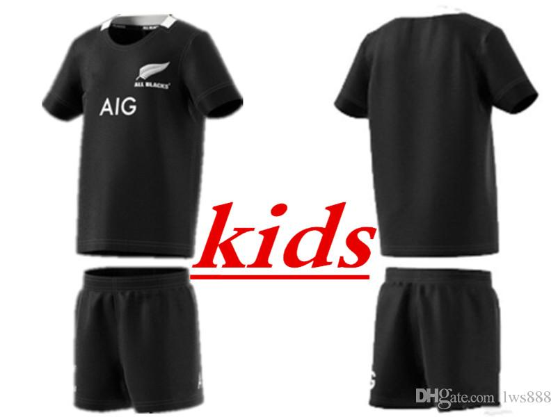 ba16e0f0c 2019 ALL BLACKS HOME Kids Jersey Size 16-26 TONGA Ireland IRFU SCOTLAND  FIJI Maori All Blacks Munster Rugby 2018 Highland Super RUGBY JERSEY  QUEENSLAND ...