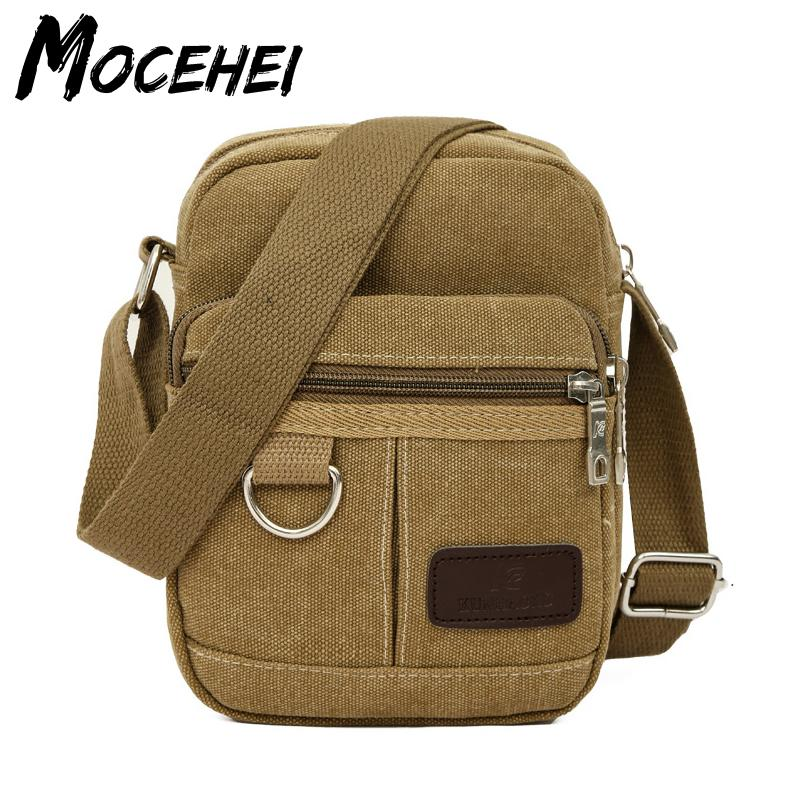 b8eb5577f3 Men Shoulder Bag Casual Canvas Vintage Bags For Business Man Bolsa ...