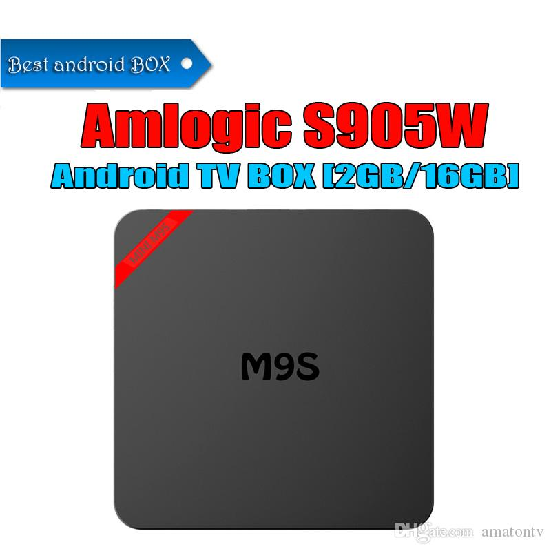 Android TV Boxes 2gb 16gb M9S Mini Amlogic S905W Android7.1 TV Box M9S-mini mejor que T95 X96 TX3 S905X TV Box