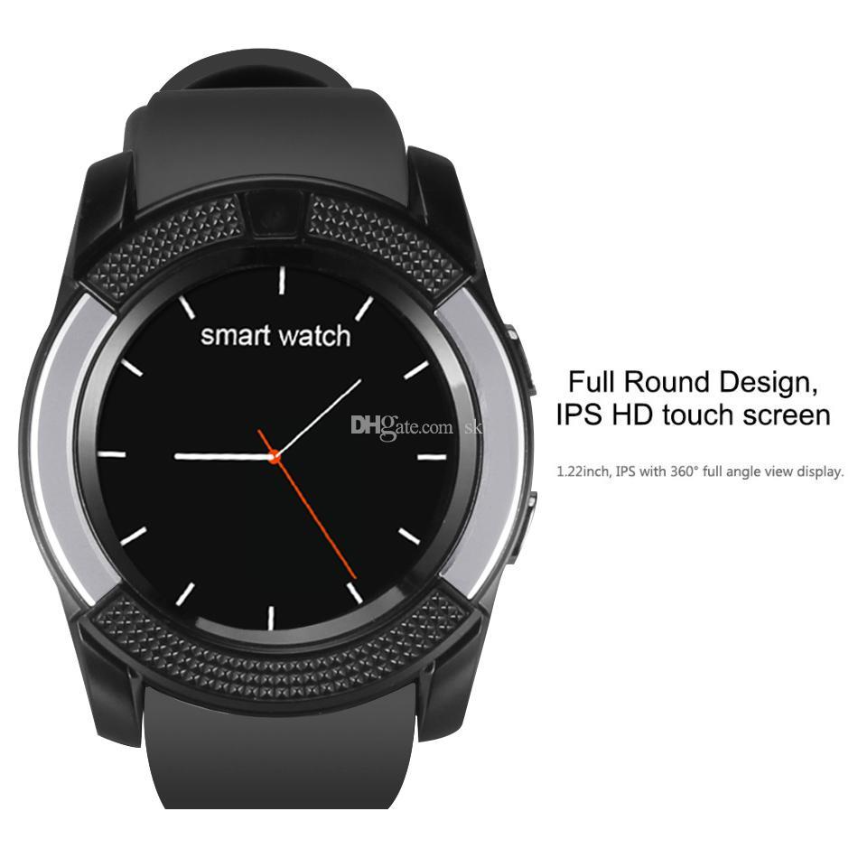 V8 Smart Watch Armband Uhrenarmband mit 0,3 M Kamera SIM IPS HD Full Circle Display Smart Watch für Android System mit Box