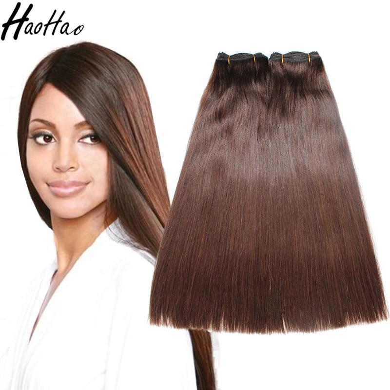 Super Double Drawn Color Hair Machine Double Weft Straight