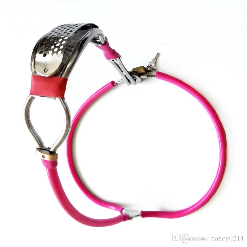 Newst Design Chastity Belt Stainless Steel and Silicone Chastity Underwear Invisible Panty Chastity Device BDSM Sex Toys G7-4-50