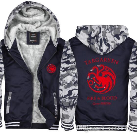 Of Game Hoodie Camouflage Veste Thrones Acheter Maison 2018 5EqOS