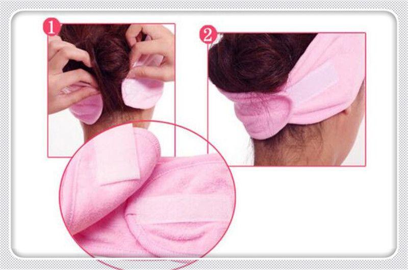 2018 Wholesale- Women Bath Head Wrap Shower Headband Washing Cleansing Toiletries Bathing Tool Accessories RP2-5