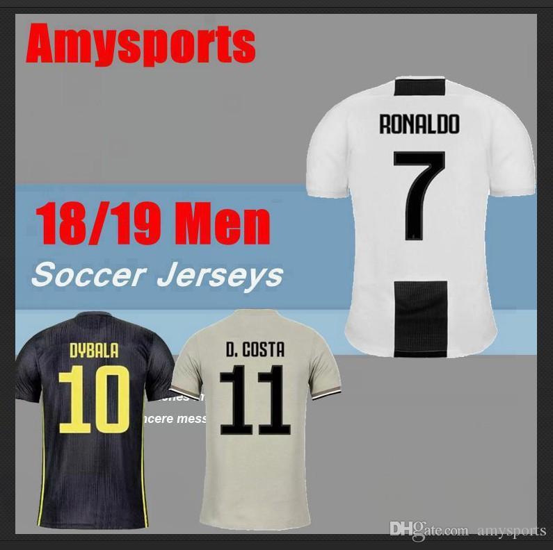 7195c91b6 2018 2019 RONALDO DYBALA Home Soccer Jersey 18 19 HIGUAIN Soccer ...