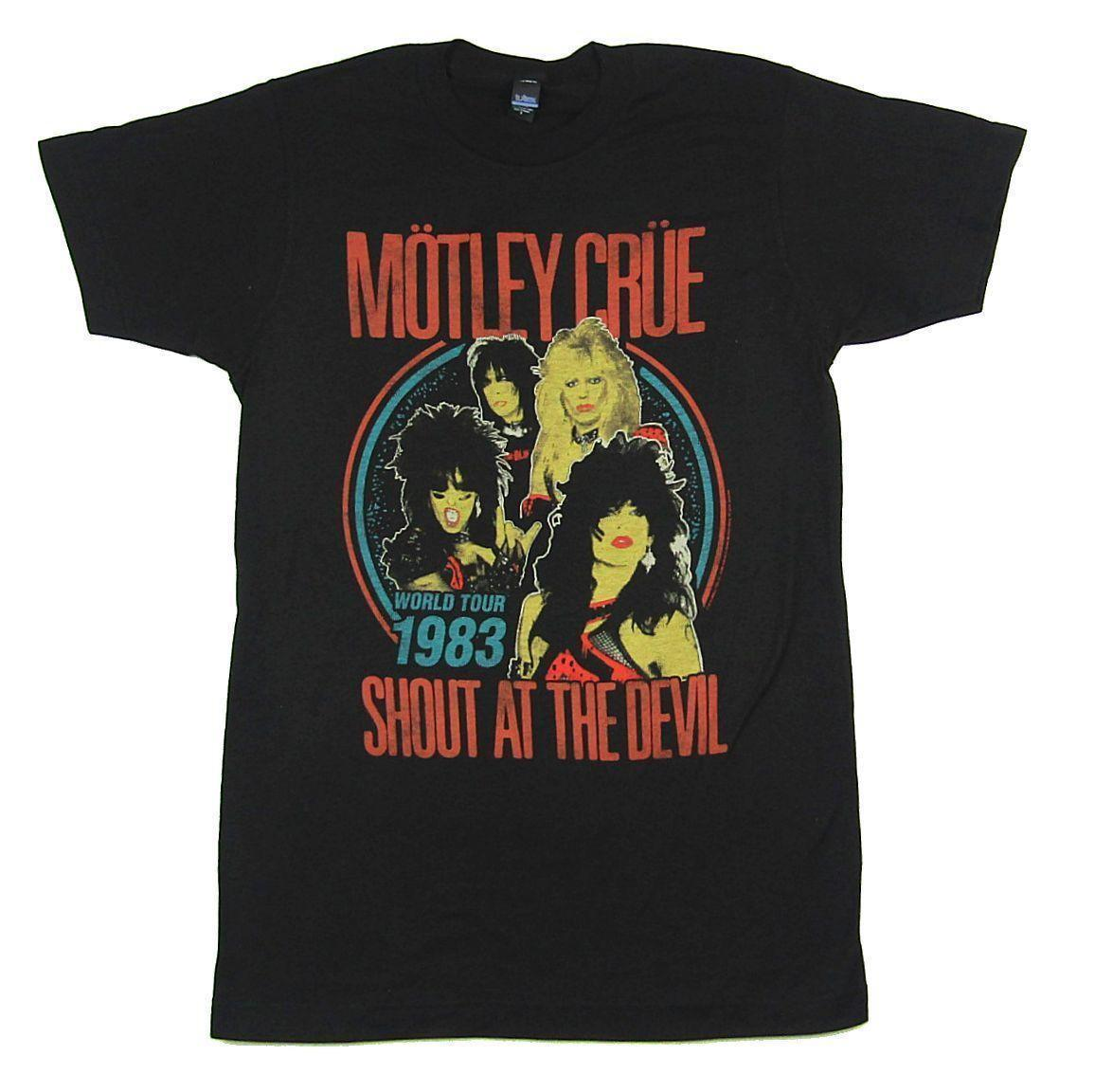 d64579f72dc Motley Crue Shout At The Devil World Tour 1983 T Shirt New Official Reissue  New 2018 Hot Summer Casual T Shirt Printing Tea Shirt Vintage Tee Shirts  From ...