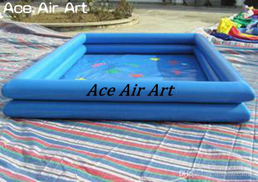 Inflatable PVC tarpaulin pool,inflatable swimming pool with free air blower for sale made in China