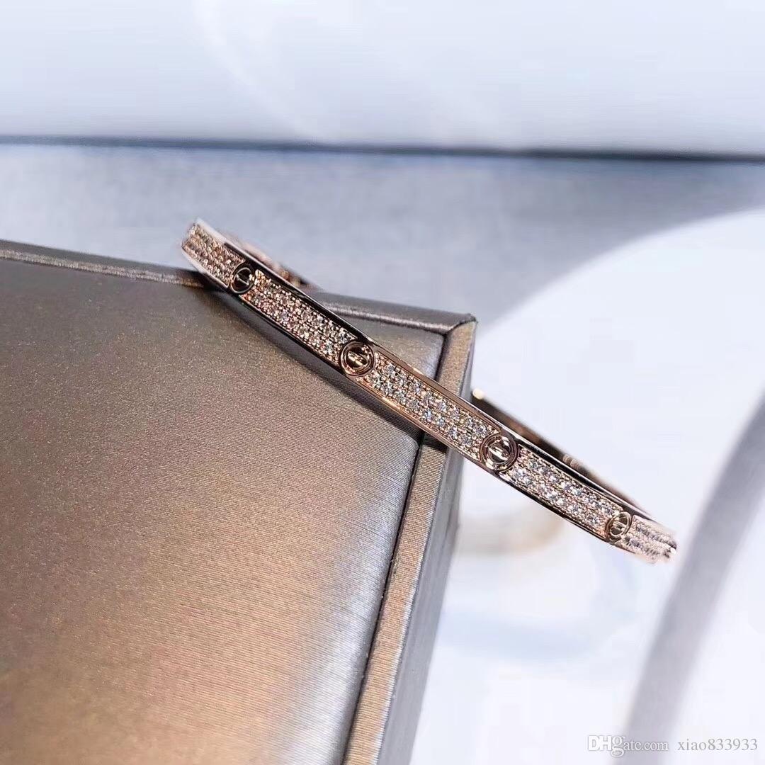 Hot populares europeu e americano broca popular 2 cor de prata das mulheres pulseiras favoritas
