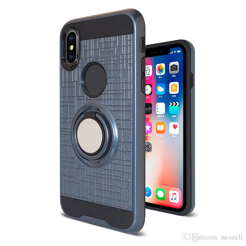 ring car phone holder case magnetic cellphone cover for iphone x 6best custom phone case cover cheap hybrid impact shockproof hard case cover