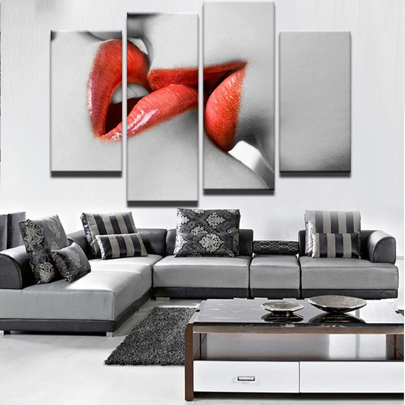 Acheter Images Modernes De Mur Du0027image De Tableau Décoratif Moderne De 4  Panneaux Pour Le Salon Peinture Sur Le Mur De $10.06 Du Z1151832585    DHgate.Com