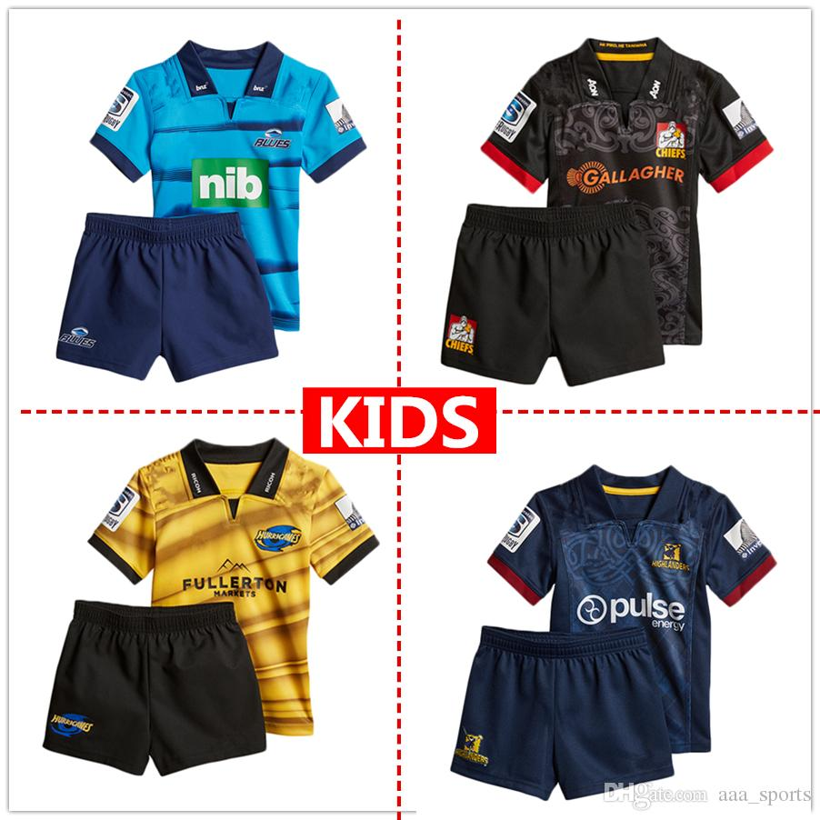 ae1db7728 2018 2019 Highlanders Crusaders Blues Kids Super Rugby Jerseys New ...