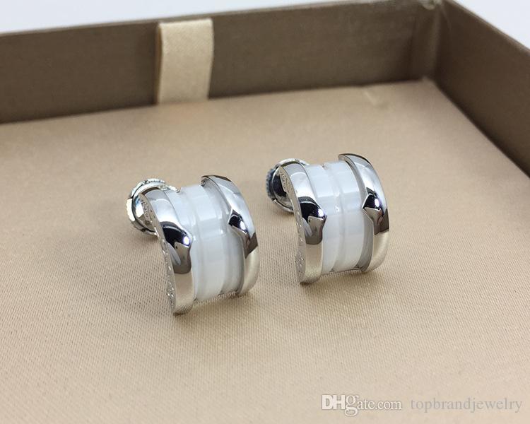 De calidad superior de acero titanio 316L semicirculares cóncavos pendientes con las mujeres creamic pendiente de joyas jewlery envío gratis PS5602