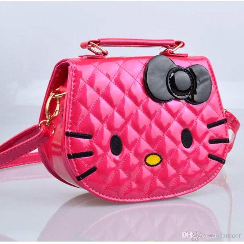 5b2740d1df8 Wholesale- 2016 Cute Hello Kitty Kids Small Shoulder Bag High ...