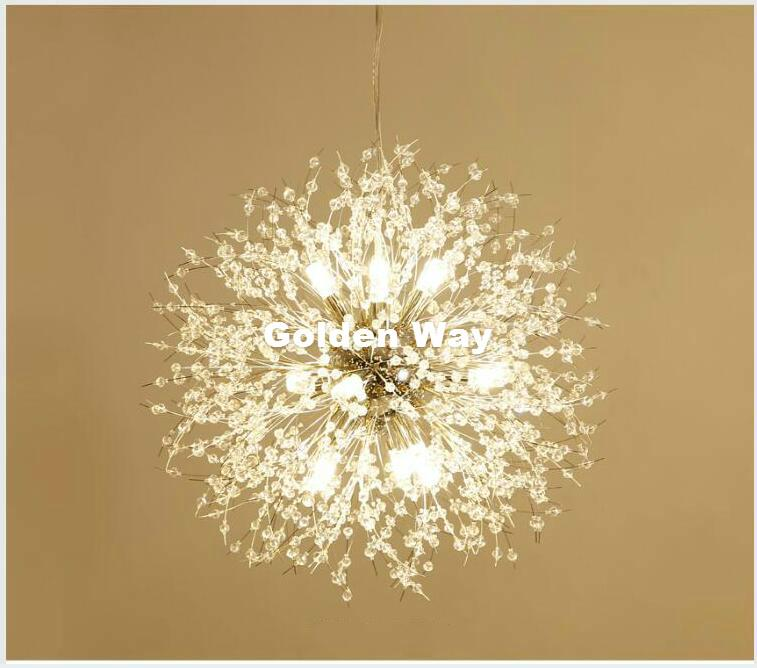 Grosshandel Kostenloser Versand Kristall Pendelleuchte D60cm Golden