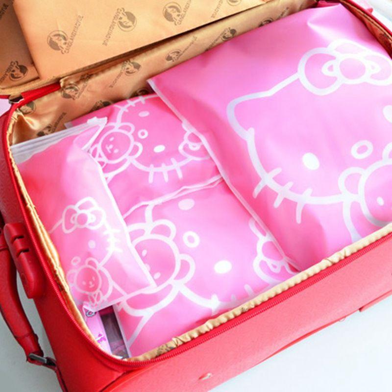 212efb3c5c 2019 Transparent Hello Kitty Cosmetic Bag Travel Makeup Case Women Zipper Make  Up Handbag Organizer Storage Pouch Toiletry WKit From Conglan