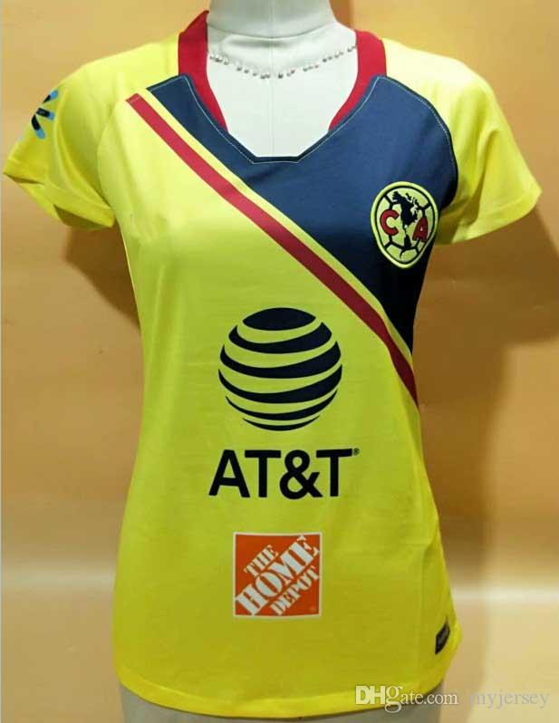 promo code 0a1f4 44ee7 Women jersey 2018 19 LIGA MX Club America soccer Jerseys woman 2018  I.RENATO MATHEUS home away O.PERALTA female football shirt uniform
