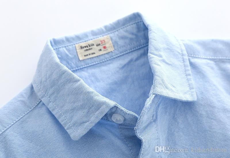 Boutique Oxford boys shirts pure cotton ready to go dog printed kids clothing wholesale cheap China 90-100-110-120-130