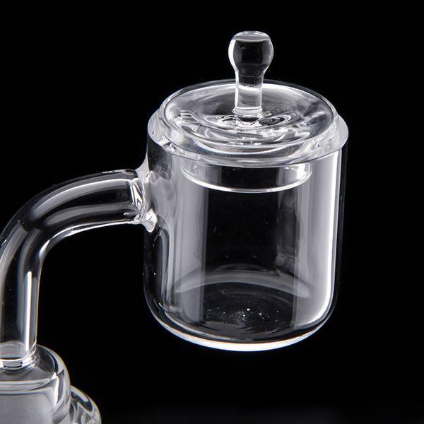 쿼츠 라운드 카브 캡 20mm 그릇 유니버셜 플랫 그릇에 대 한 100 % 석영 네일 큰 그릇 돔 빌리지 손톱 DAB 조작 클럽 543
