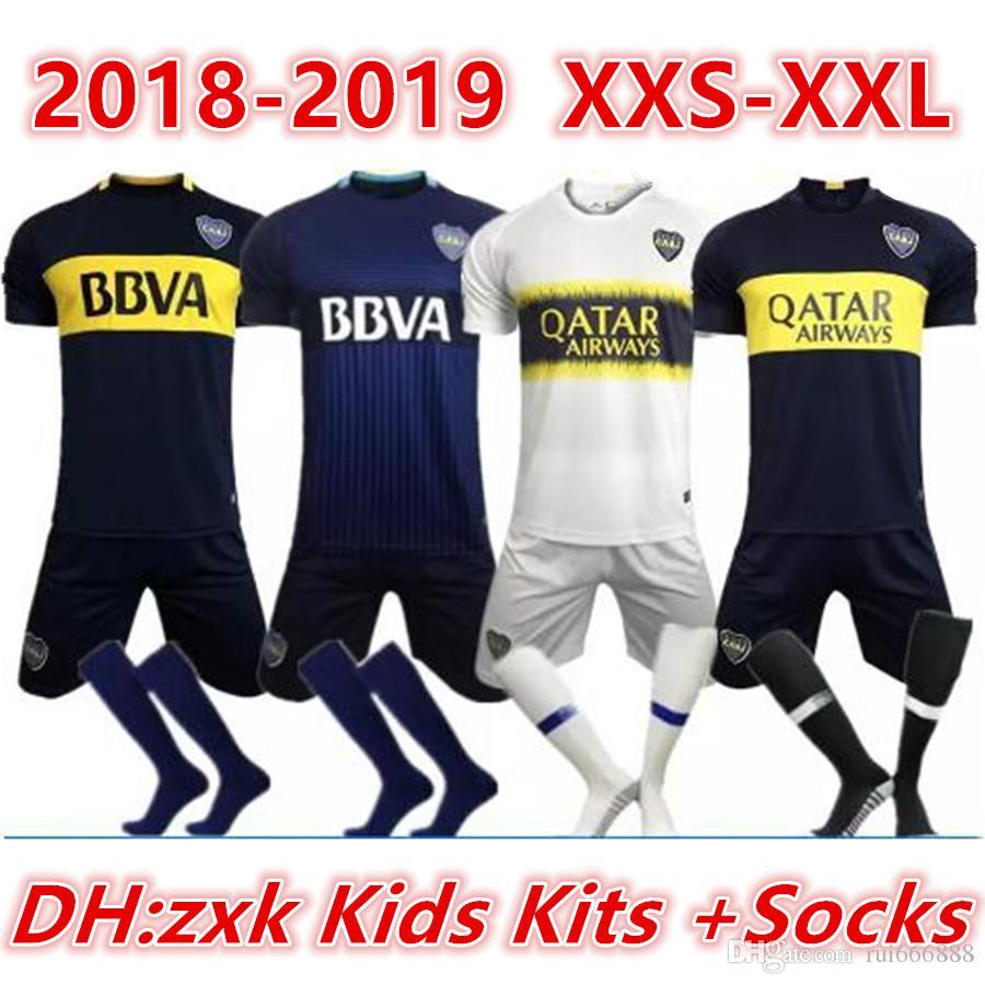 Compre Kits Para Niños + Calcetines 18 19 Camisetas De Fútbol De Boca  Juniors 2018 2019 GAGO CARLITOS HOME AWAY Camisetas De Camiseta De Fútbol  Boca Junior ... dd11ca0c499ae