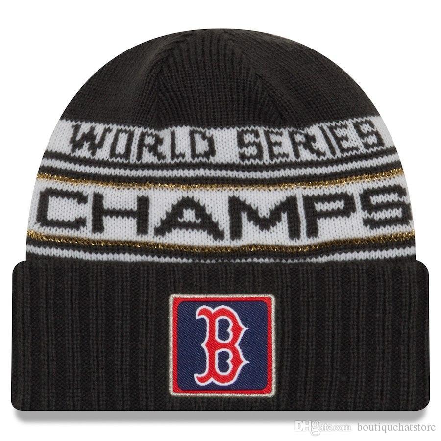 4a0f96e4480 High Quality Men S Red Sox Cuffed Pom Beanie Hats Knitted Boston Beanie  Wool Warm Baseball Cap Hat Women Knit Bonnet Beanies Knit Hat Custom Beanies  Crochet ...
