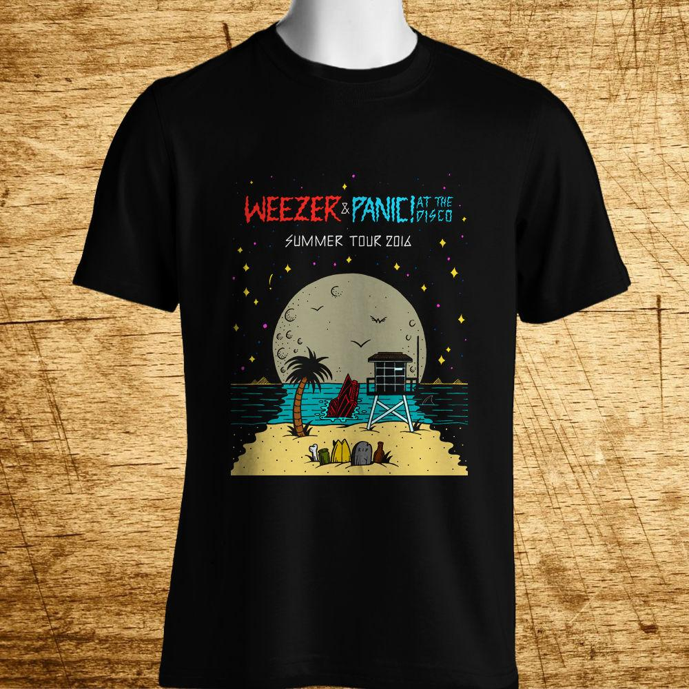 b72d2ac7 New Weezer Panic! At The Disco Tour Logo Men'S Black T Shirt Size S 5xl Graphic  Tee Shirts T Shirt Sayings From Zaeystore, $11.01| DHgate.Com