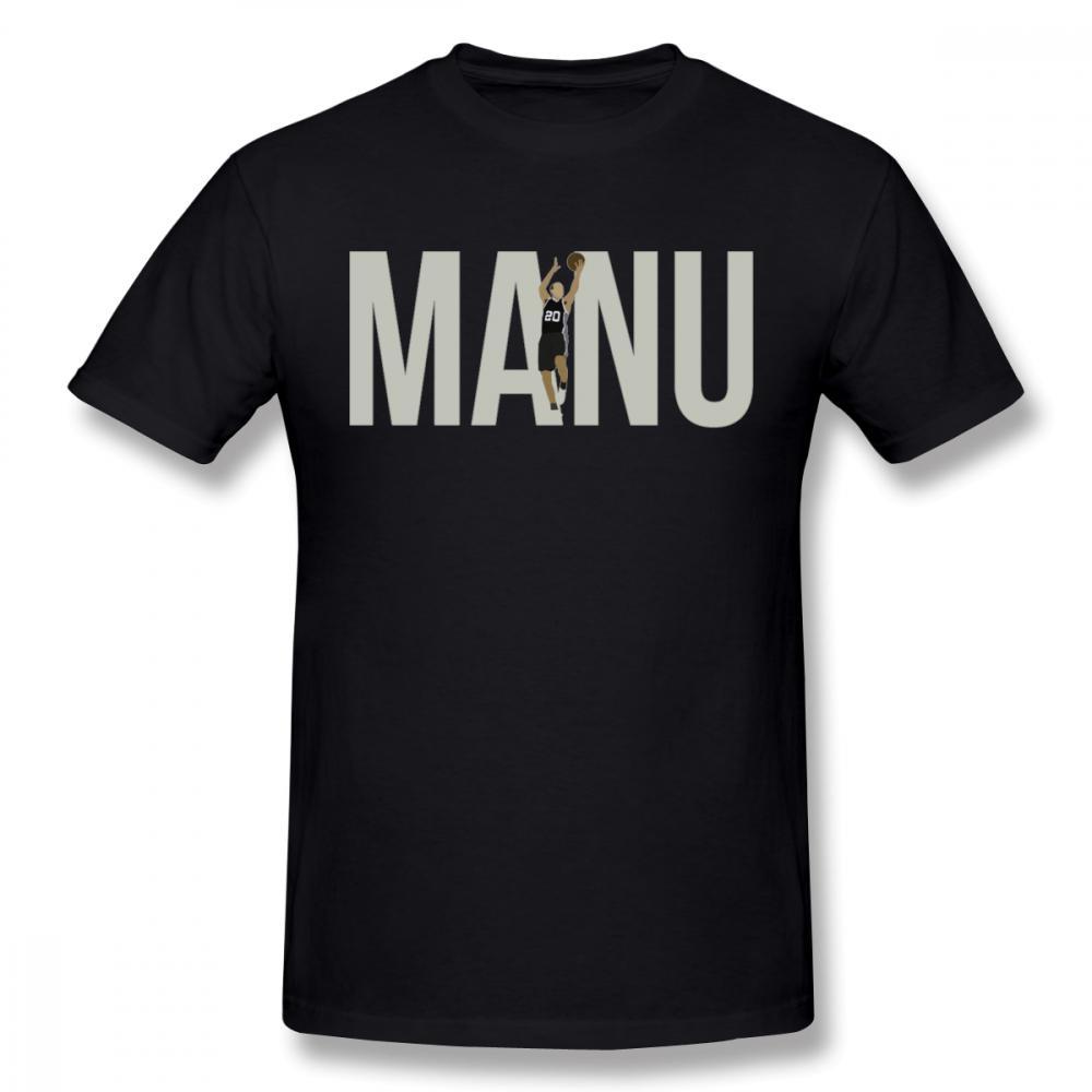 Großhandel Mann Manu Ginobili T Shirt Männliche Karikatur Gewohnheit ...