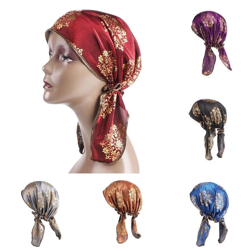 Women India Muslim Stretch Retro Turban Hat Head Scarf Wrap Cap Hats For  Women Chapeu Feminino Festival Touca Summer Hat Cowboy Hats Stetson Hats  From ... b5fa26b99f1