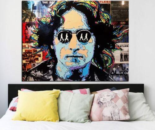 High Quality Handpainted & HD Print Alec Monopoly Bansky Graffiti Art Oil Painting John Lennon On Canvas Wall Art Home Decor Multi Size g235