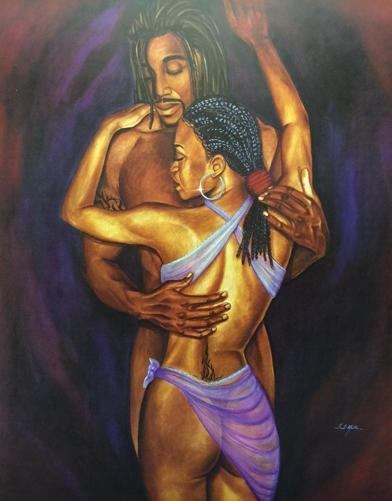 Black couple art images