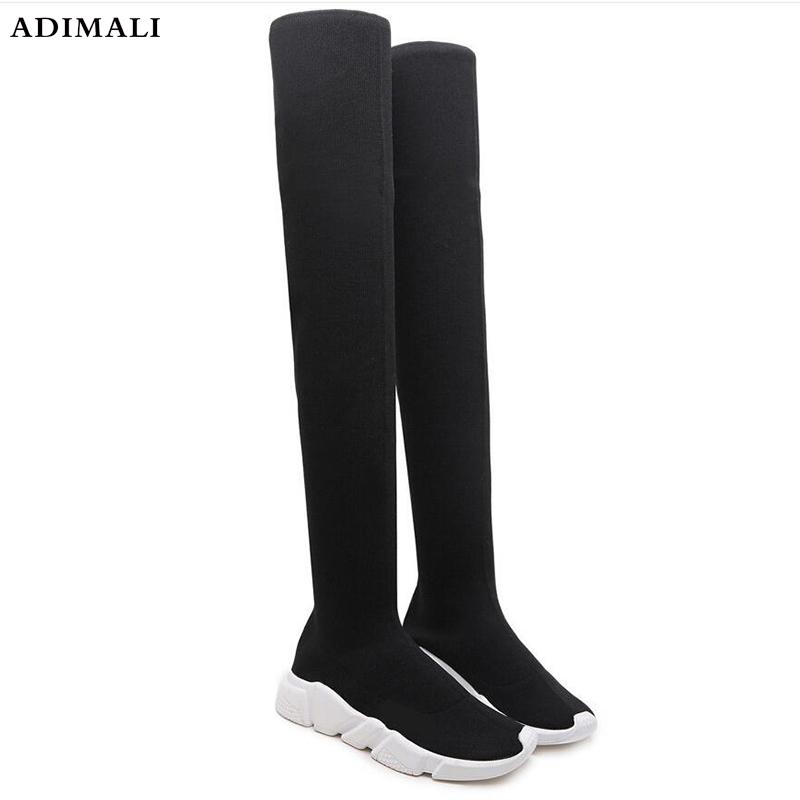 9e86b374a6 Stretch Suede Women Thigh High Boots Stilettos Sexy Over The Knee Boots  Pointy Toe High Heel Long Botas Mens Leather Boots Grey Boots From  Keroyeah, ...