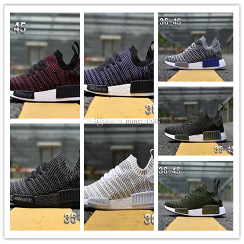 1c4c9d3b2 Discount New NMD R1 Stlt Spring Summer 2018 Line Up Mens Womens Running  Shoes NMD Runner Primeknit Sports Sneakers Kids Running Shoes Black Running  Shoes ...