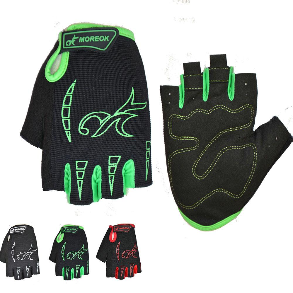 Bicycle outdoor riding half finger gloves shockproof silicone sports short breathable gloves fitness bodybuilding training gloves