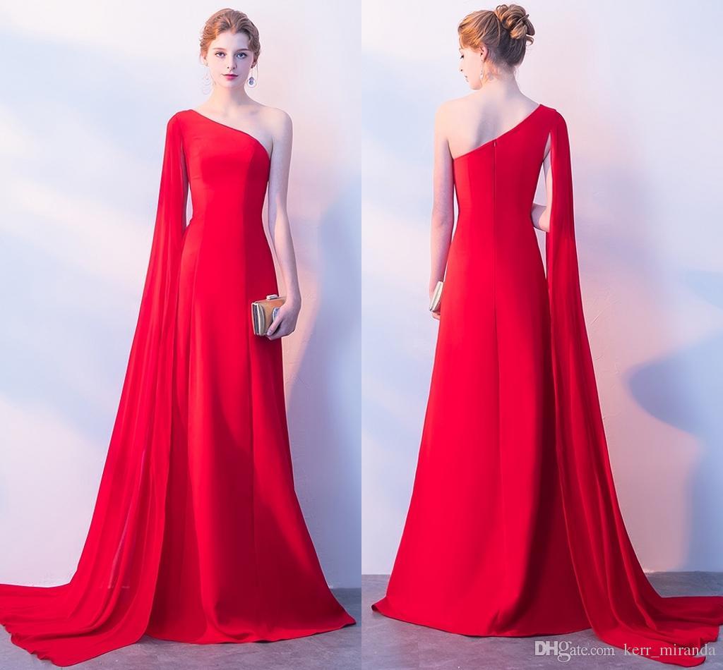 Red Chiffon Prom Dress