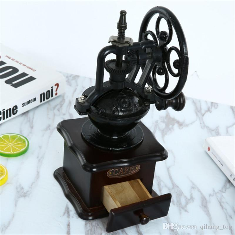 Qihang_top Retro Style Manual Coffee Grinder Home Coffee Bean Mill Grinding Hand Coffee Vintage Maker Price