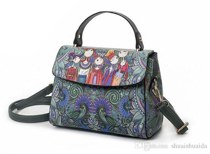 fa2bce232c20 2018 Female Bag Casual Fashion Woman Bag Metal Chain Ladies Handbag PU Small  Mini Cross Body Shoulder Bags Totes Modern Girl A07 Laptop Messenger Bags  ...