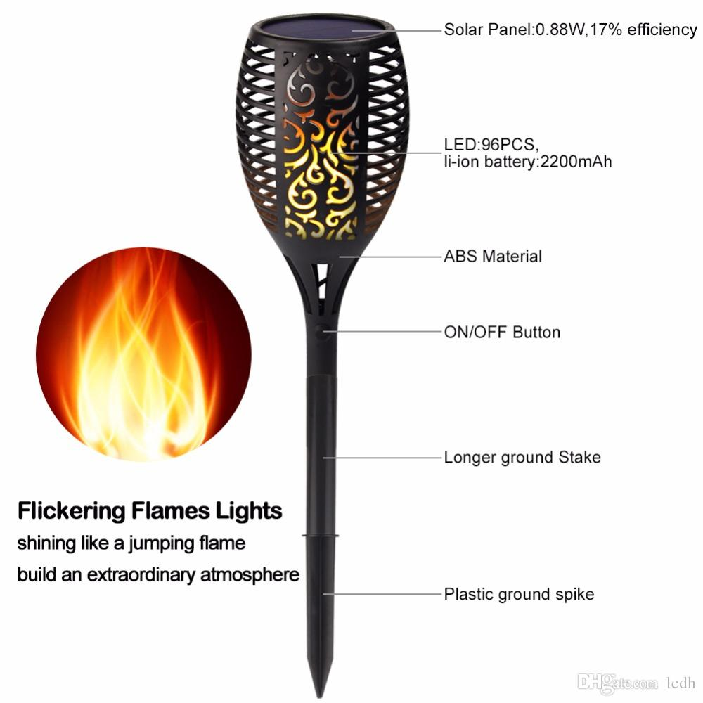 Outdoor Tiki Lights Solar torch lights outdoor led tiki lamp flickering with realistic solar torch lights outdoor led tiki lamp flickering with realistic dancing flame dusk dawn landscape decoration lights for gardenpatiodec solar light workwithnaturefo