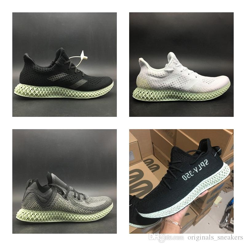 pretty nice a56cd 43135 2018 Release Futurecraft Alphaedge 4D LTD Aero Ash Green Core Black Running  Shoes Man Authentic Sneakers With Original Box AC8485 Men Shoes On Sale  Shoes ...