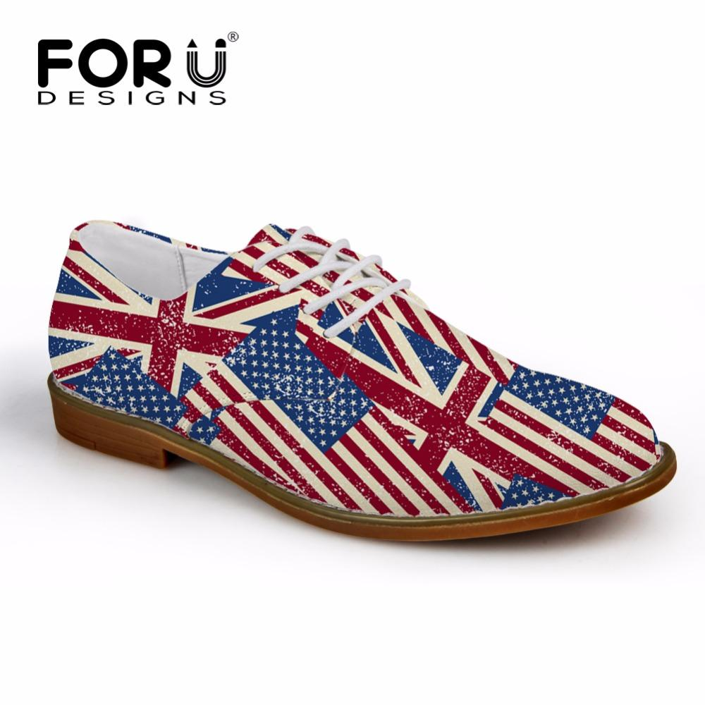 7010e1eb74d0a4 FORUDESIGNS Casual Men Synthetic Leather Oxford Shoes Fashion UK USA Flags  Puzzle British Style Mens Flat Shoes High Quality Mens Shoes Loafers From  Aiyin, ...