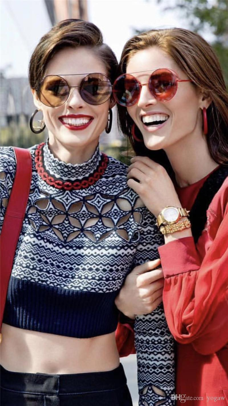 Women Run Away 0285/S Round Sunglasses black/grey Fashion Brand Sunglasses Eyewear New with Box