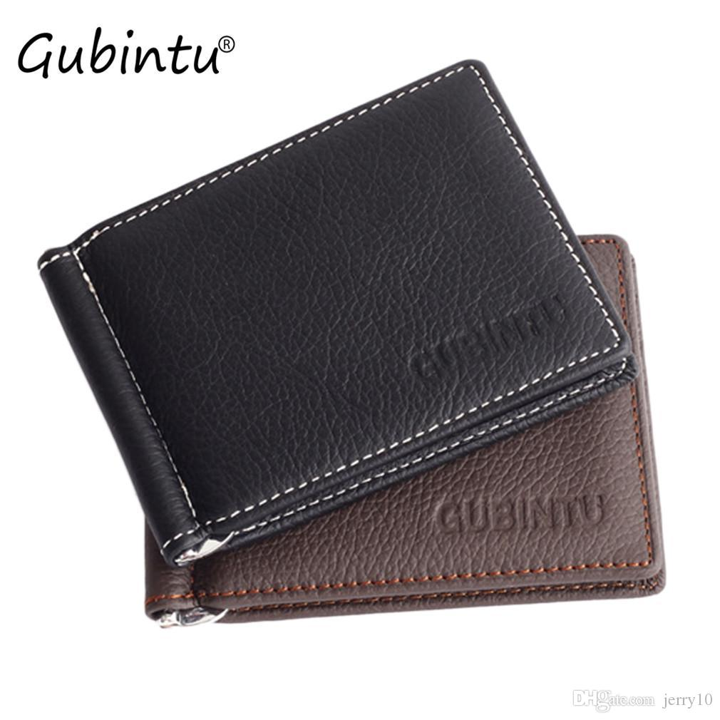 18dec98073dc GUBINTU Men Leather Wallet Ultrathin Luxury Credit Card ID Card ...