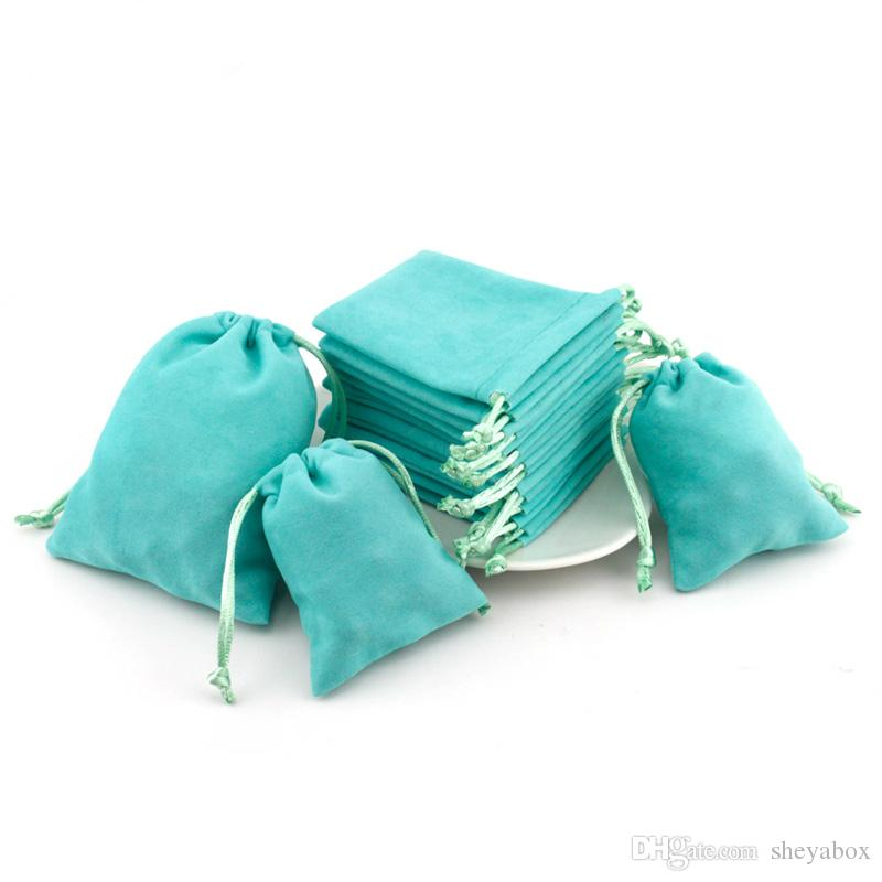 Pink Velvet Jewelry Gift Bags with Cord Drawstring Dust Proof Jewellery Cosmetic Storage Crafts Packaging Pouches for Boutique Retail Shop