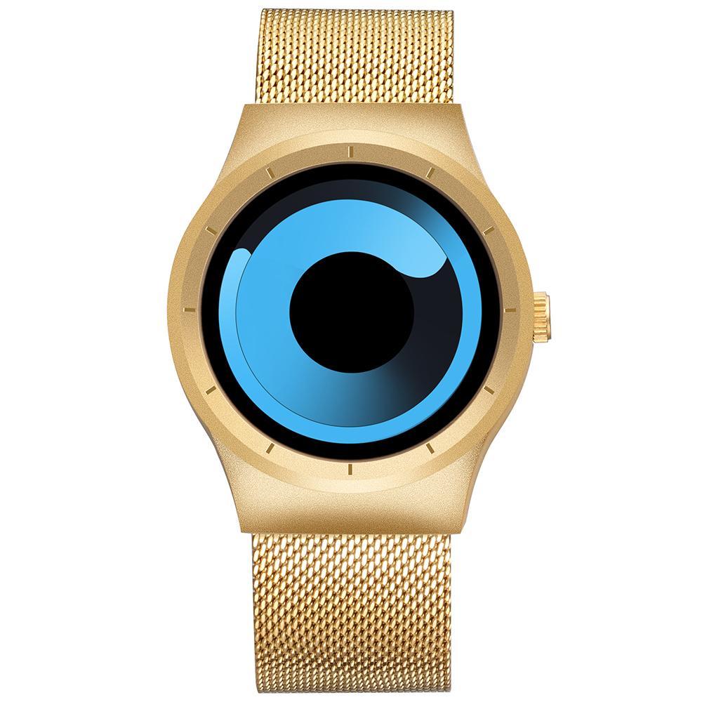 146a0f6447cb Compre Skone Brand New Men Relojes Correa De Malla De Acero Inoxidable  Relojes De Pulsera De Deporte Hombres Reloj De Pulsera De Cuarzo De Moda  Relogio ...